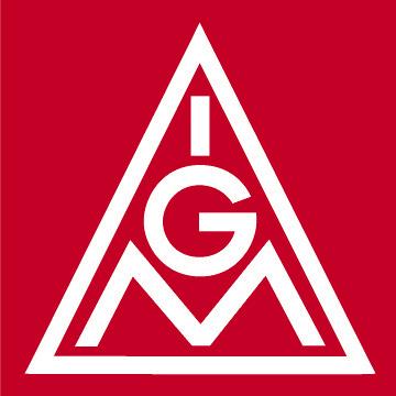 IG Metall Logo, rot, JPG, 360 x 360 Pixel