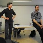 Olaf Rahmstorf (Diskussionsleitung) und Lauterbach