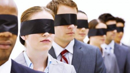 blindfolded