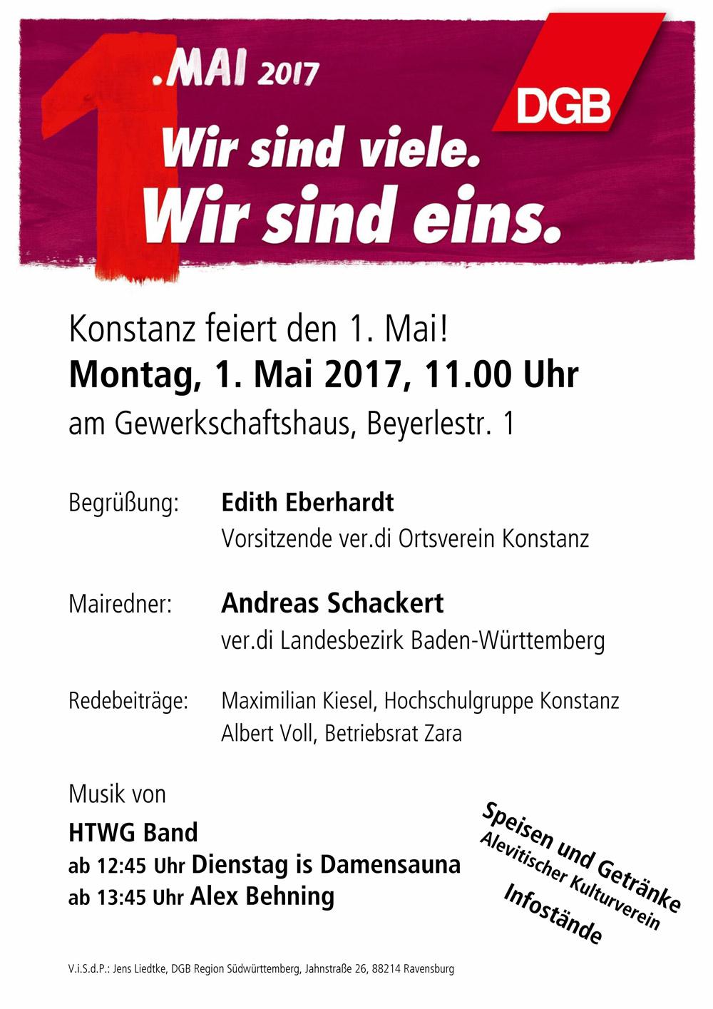 1. Mai 2017 in KN – Konstanzer Bündnis für gerechten Welthandel ...
