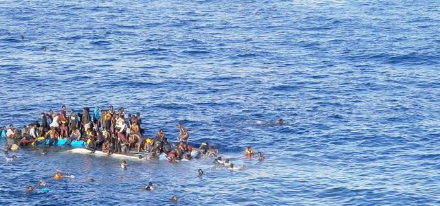 Im Mittelmeer gekentert: Flüchtlinge aus Afrika